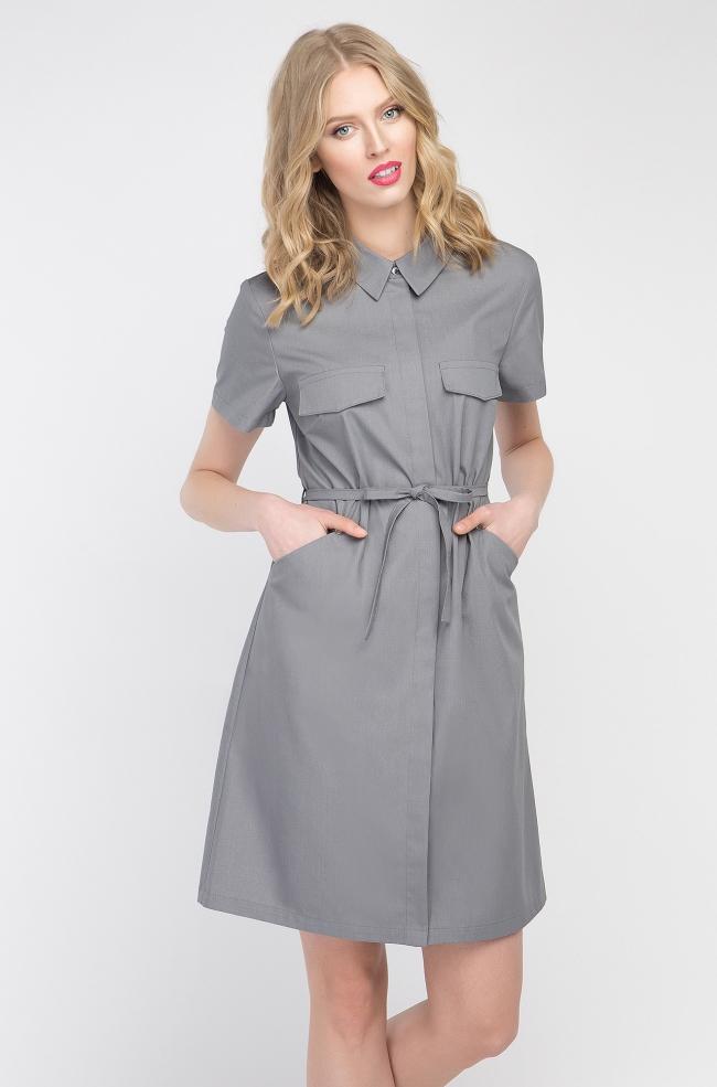 Sukienka kosmetyczna Sportivo szara-381