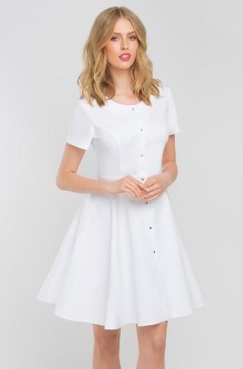 Sukienka medyczna Marilyn biała