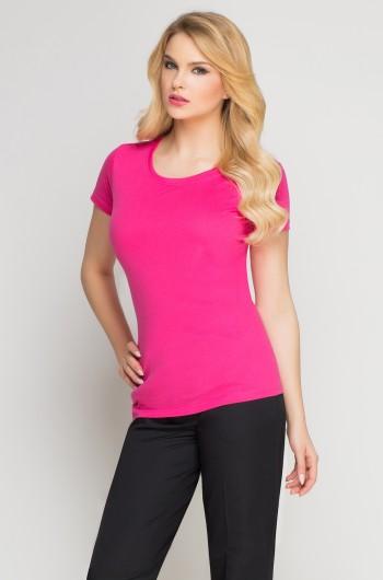 T-Shirt damski amarant