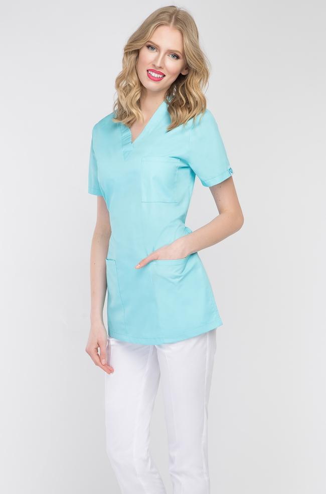 Bluza medyczna damska aqua-405