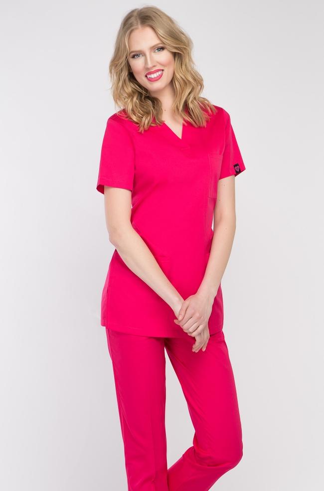 Bluza medyczna damska amarant