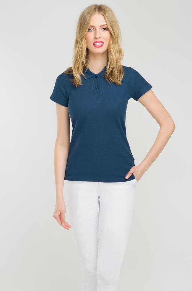 Koszulka Polo damska granatowa