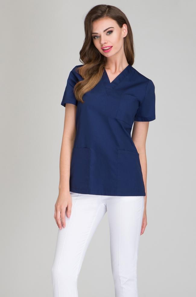 Bluza medyczna damska granatowa-413