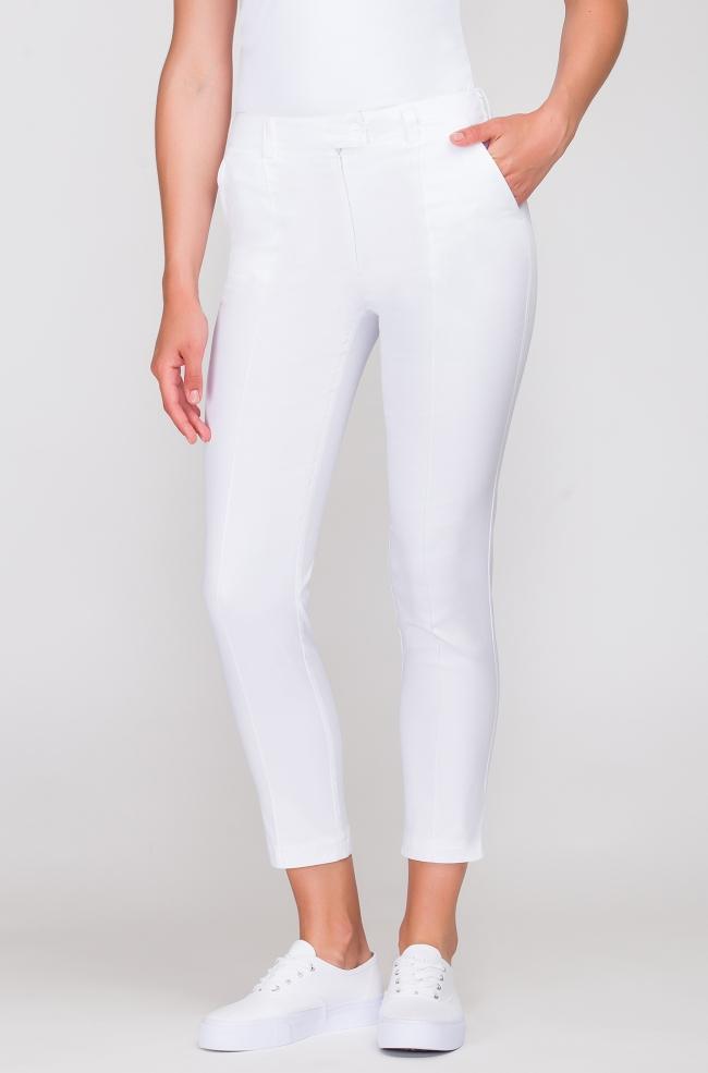 Spodnie kosmetyczne Cygaretki białe-252