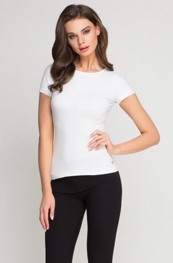 Koszulka elastan damska biała