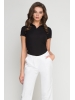 Koszulka Polo damska czarna -258
