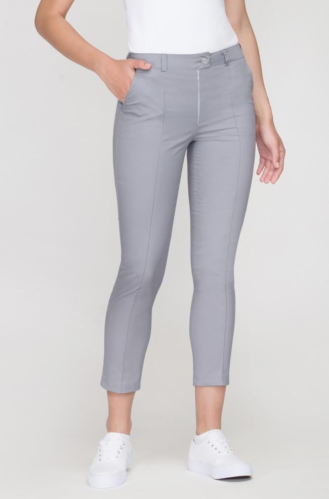 Spodnie kosmetyczne Cygaretki szare