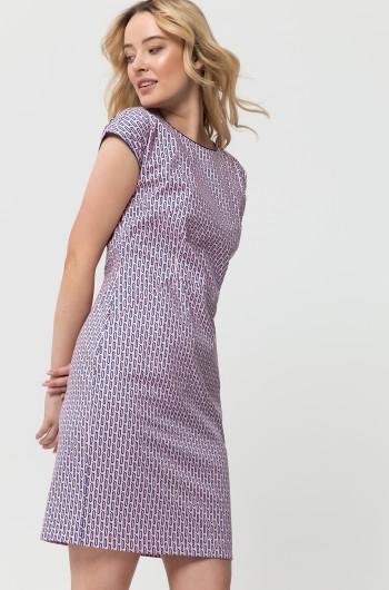 Sukienka kosmetyczna CAMILLA pudrowy róż print