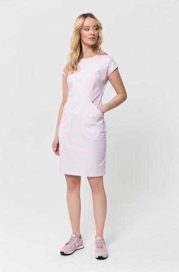 Sukienka kosmetyczna CAMILLA biała print