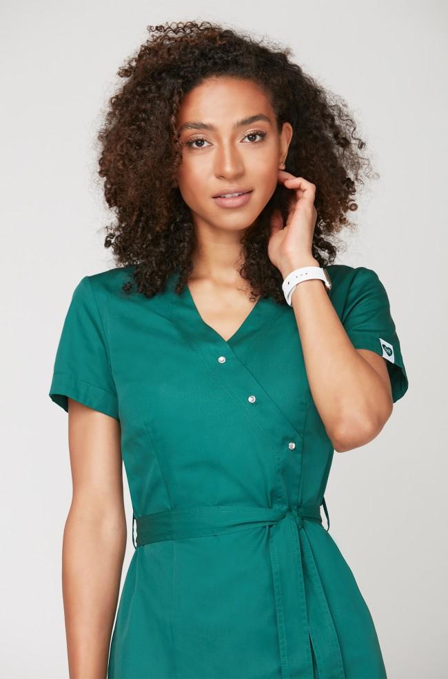Fartuszek medyczny EMMA w kolorze zielonym