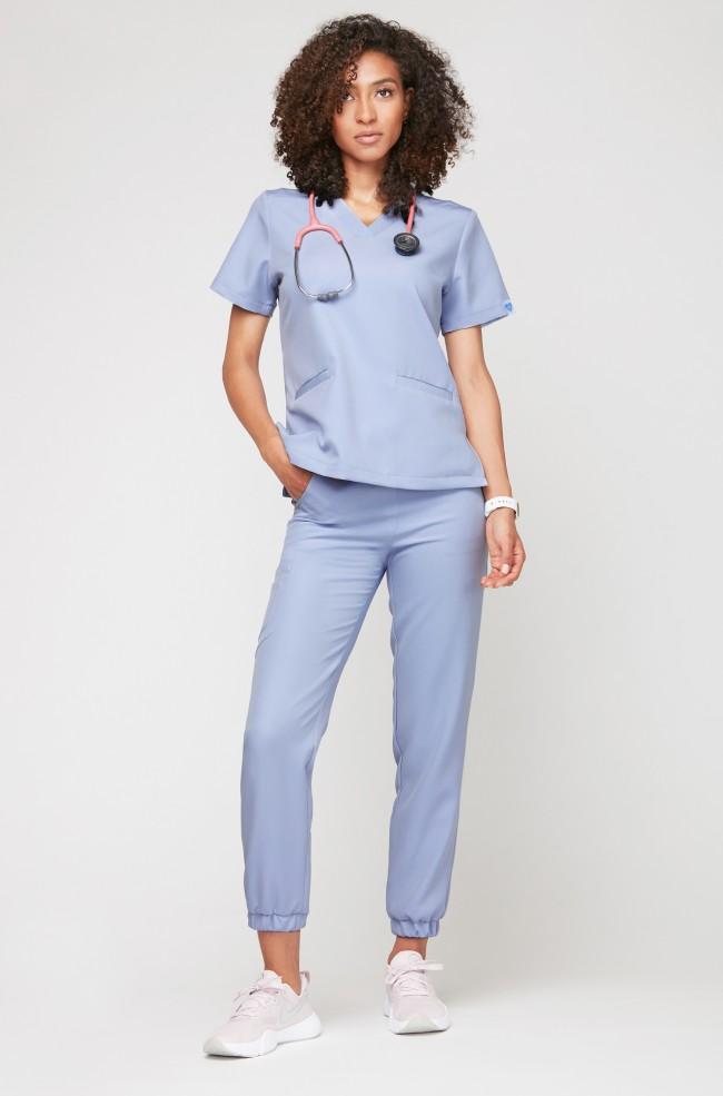 Spodnie medyczne joggery - błękitne