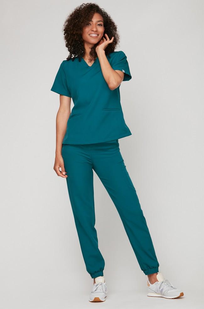 Spodnie medyczne Joggery - morski