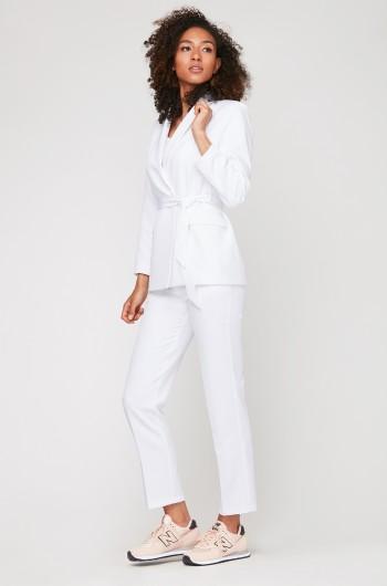 Spodnie cygaretki LUNA białe