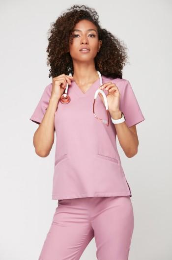 Bluza medyczna EMILY liliowy róż