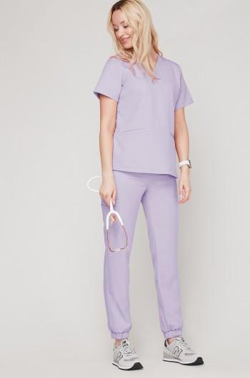 Spodnie medyczne Joggery - lavenda