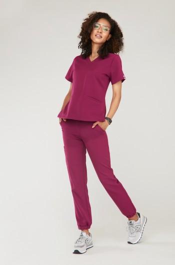 Spodnie medyczne Joggery - sangria